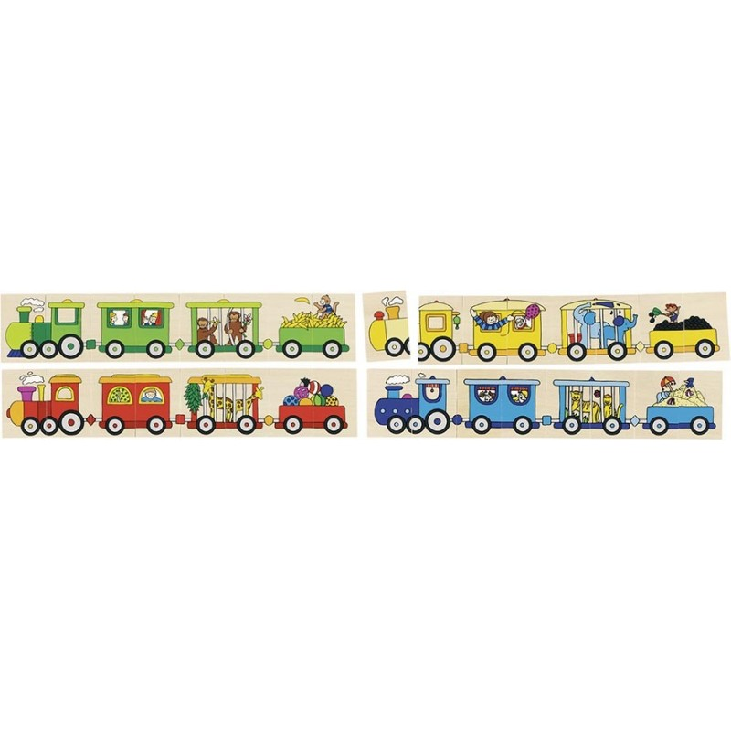Puzzle jeu de mémo 4 locomotives à prix de gros - jeu de mémo à prix grossiste
