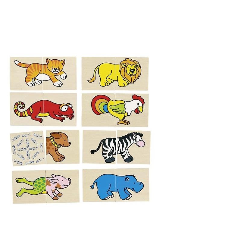 Jeu de mémo et puzzle animaux rigolos - jeu de mémo à prix grossiste