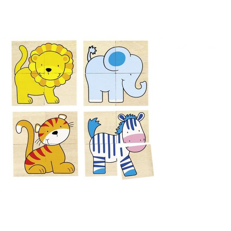 Karemo puzzle et mémo animaux sauvages à prix grossiste - Puzzle à prix de gros