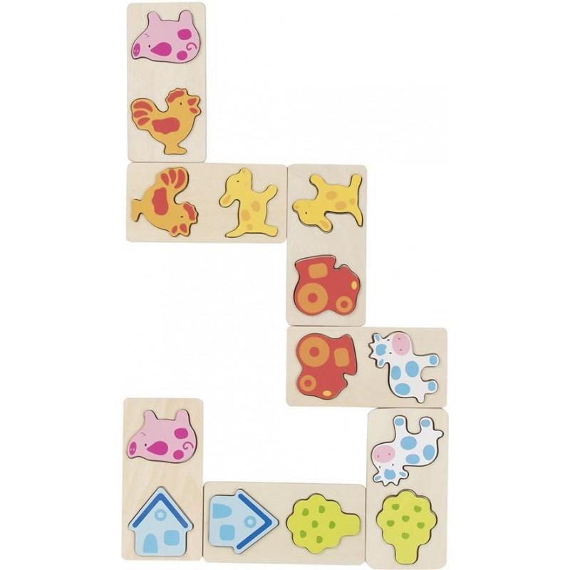 Jeu de dominos 3D ferme - Jeu de domino à prix grossiste