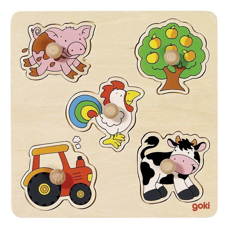 Puzzle à encastrements, à la campagne, goki basic. - puzzle à encastrement à prix grossiste