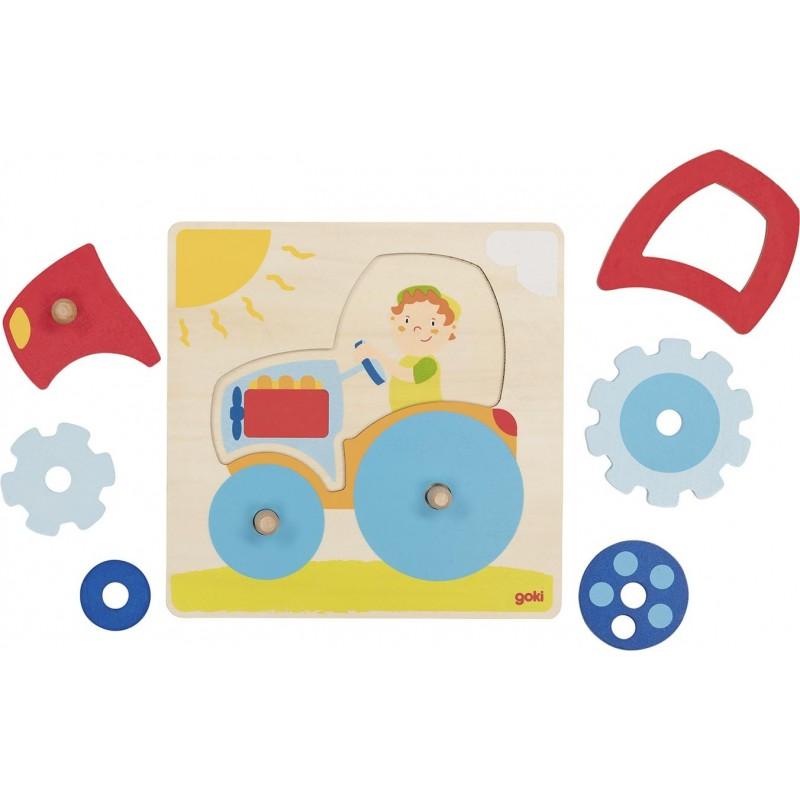 Tracteur, puzzle à encastrements - Puzzle à prix grossiste