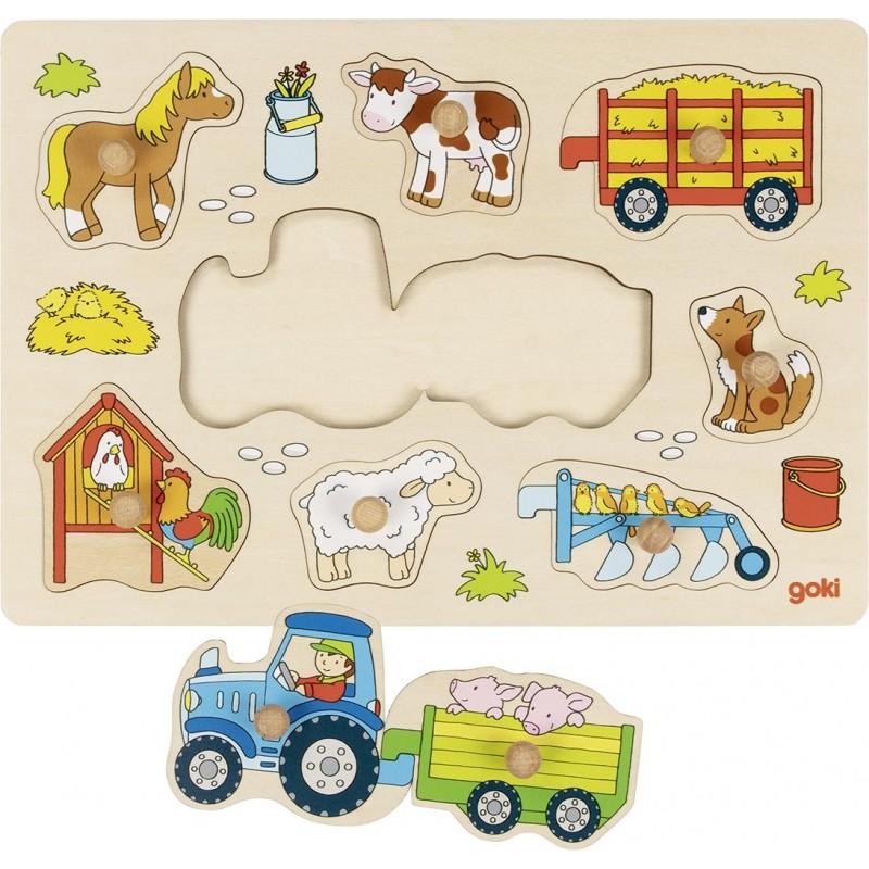 Puzzle tracteur avec remorques - Puzzle à prix de gros