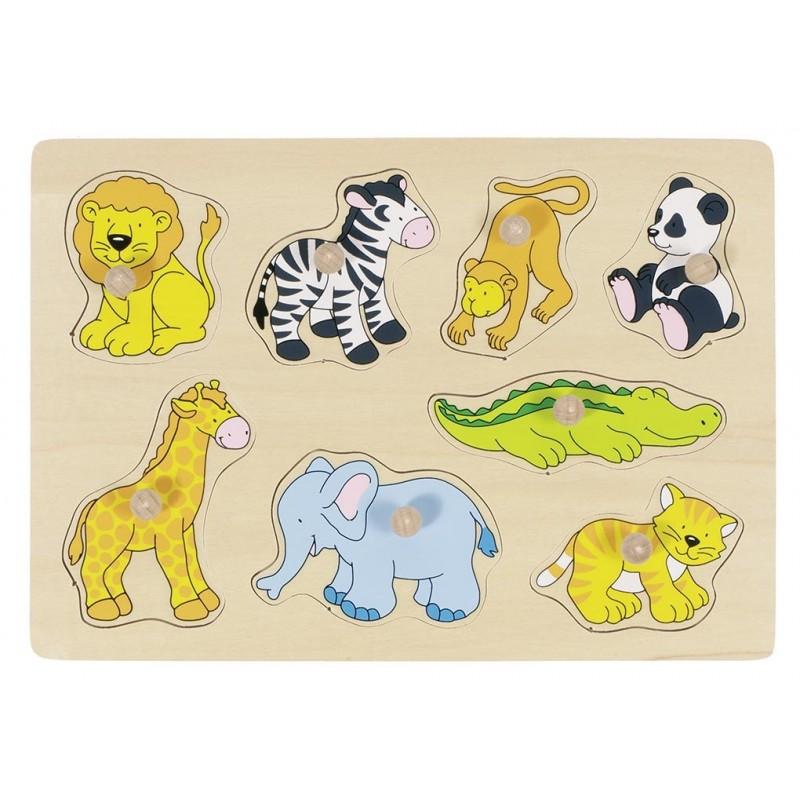Animaux du zoo, puzzle à encastrements - Puzzle à prix de gros