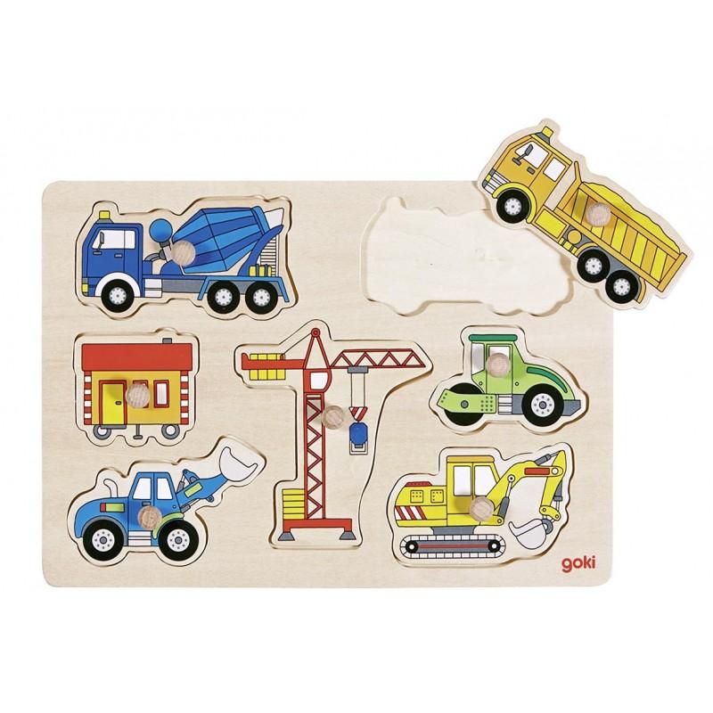Puzzle à encastrements, véhicules de chantier à prix grossiste - puzzle à encastrement à prix de gros