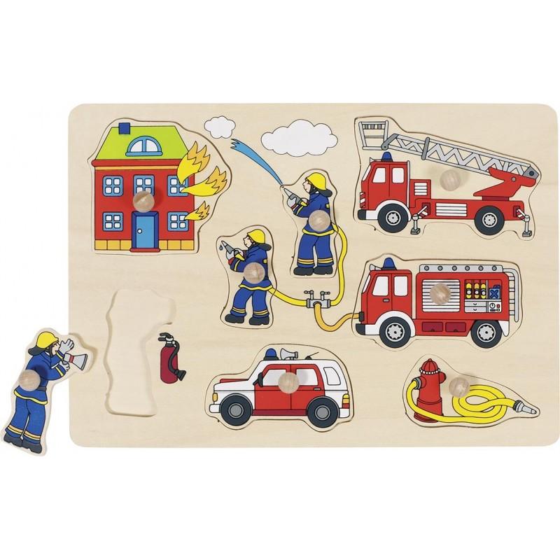 Pompiers, puzzle à encastrements à prix de gros - Puzzle à prix grossiste