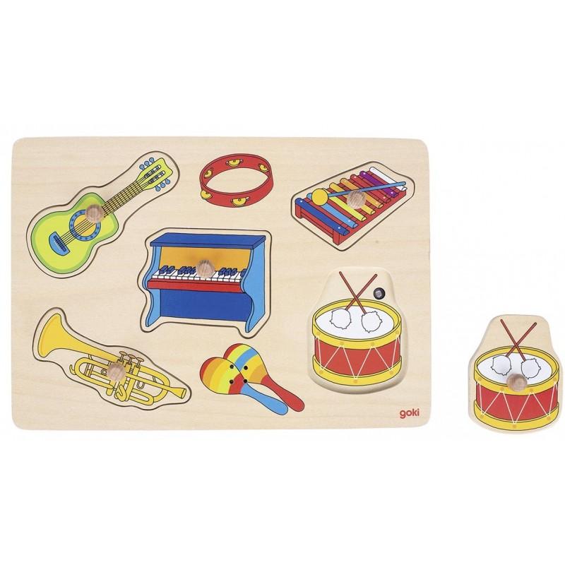 Puzzle à encastrements sonore, instruments de musique à prix grossiste - puzzle sonore à prix de gros