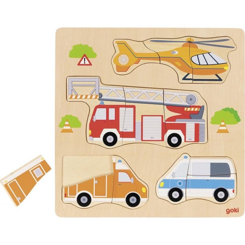 Puzzle, véhicules de secours à prix de gros - puzzle en bois à prix grossiste