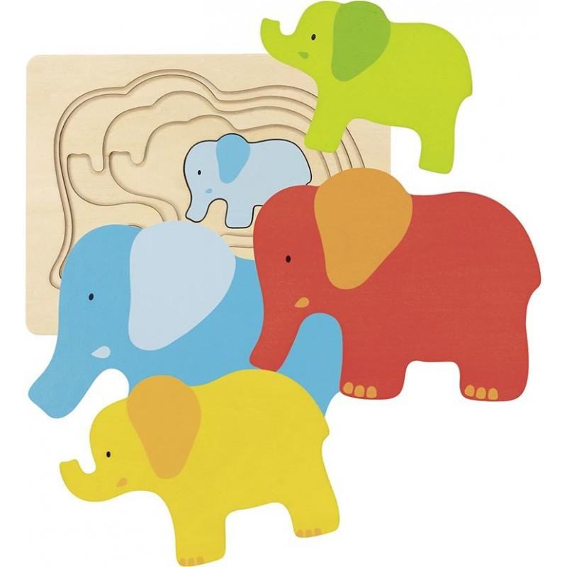 Puzzle à couches, éléphant - puzzle à couches à prix de gros