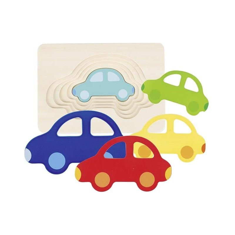 Puzzle à couches, La voiture - puzzle à couches à prix grossiste