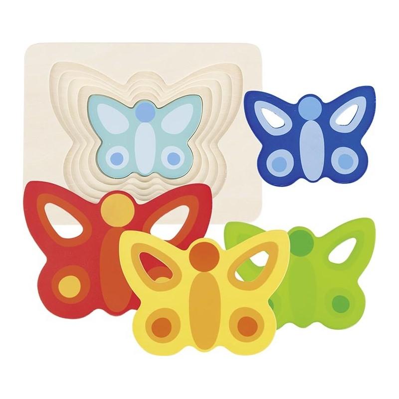 Puzzle à couches le Papillon II à prix grossiste - puzzle à couches à prix de gros