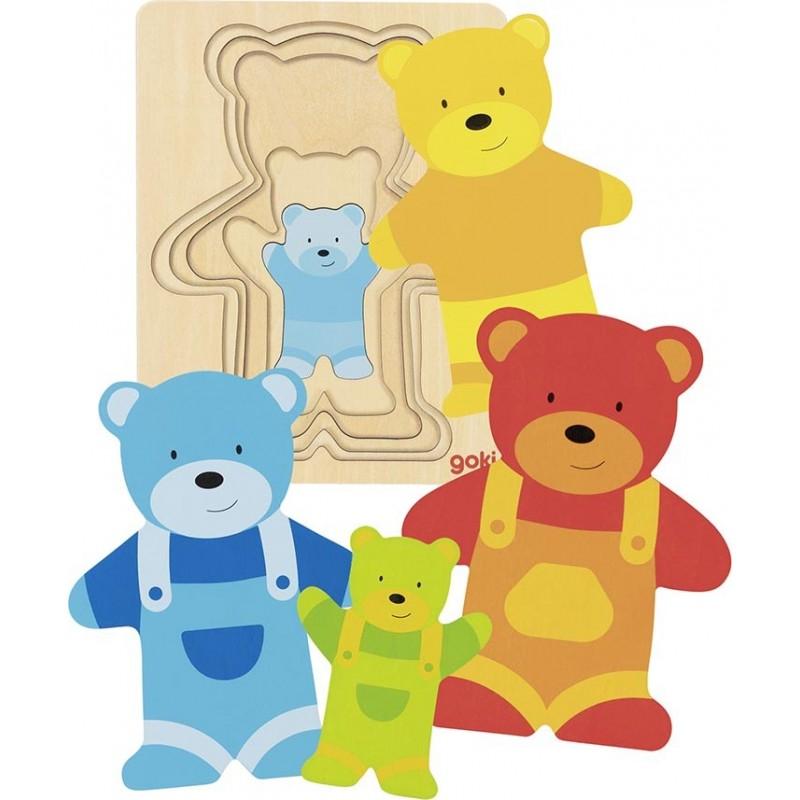 Puzzle à couches, ours - puzzle à couches à prix grossiste