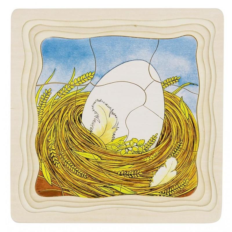 Puzzle à couches La poule - puzzle à couches à prix de gros