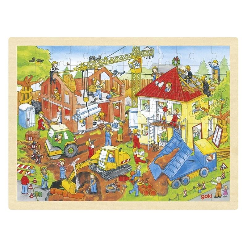 Puzzle chantier - puzzle en bois à prix grossiste