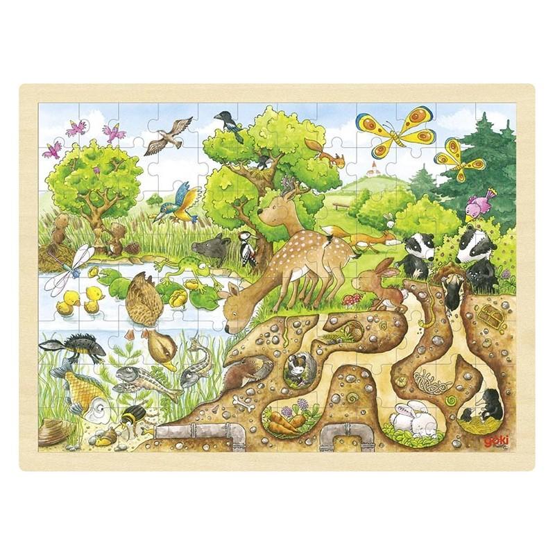 Puzzle, découverte de la nature - puzzle en bois à prix grossiste