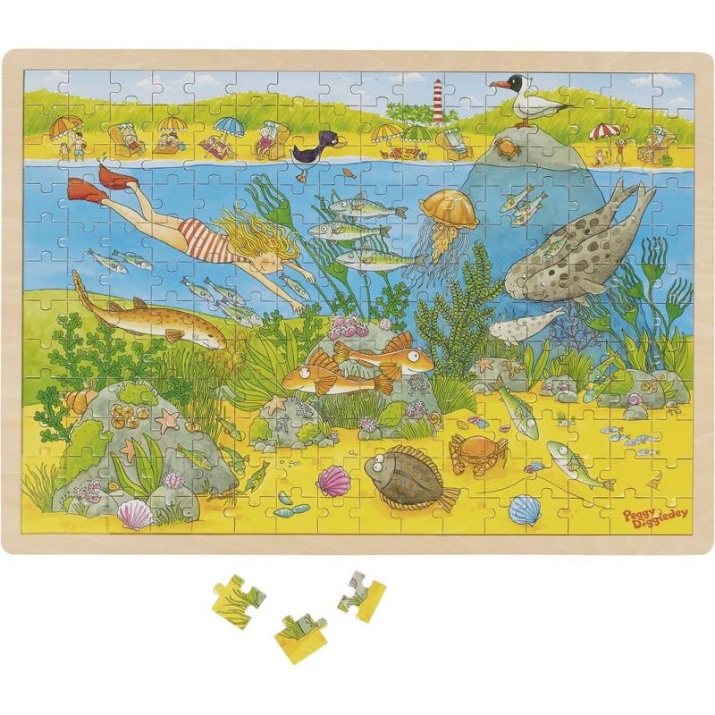 Puzzle avec images cachées, le monde sous-marin, Peggy à prix grossiste - puzzle en bois à prix de gros
