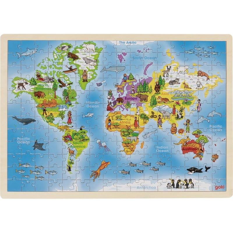 Puzzle Monde - puzzle en bois à prix de gros