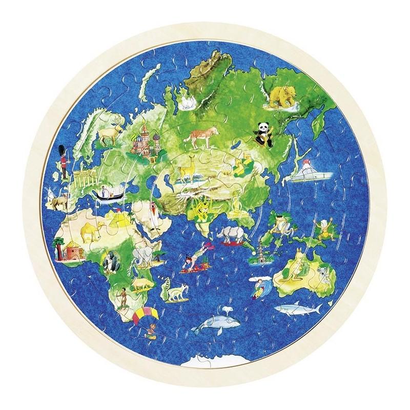 Puzzle globe terrestre à prix de gros - puzzle en bois à prix grossiste