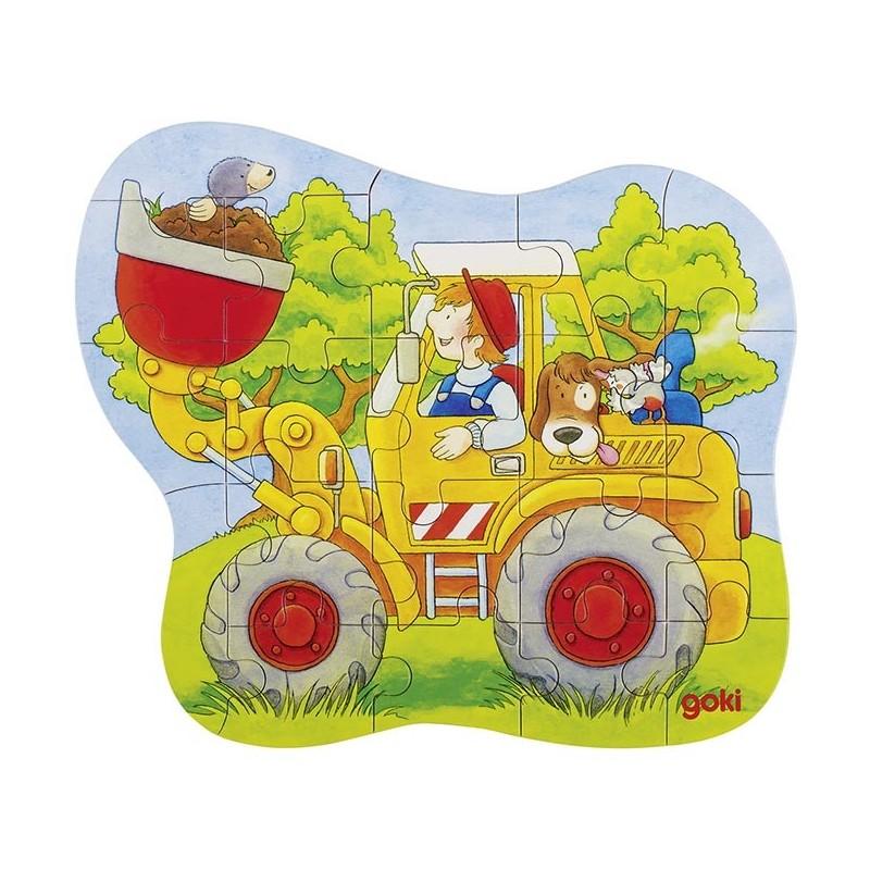 Puzzle Tracteur,Chargeur,Pompiers - puzzle en bois à prix grossiste