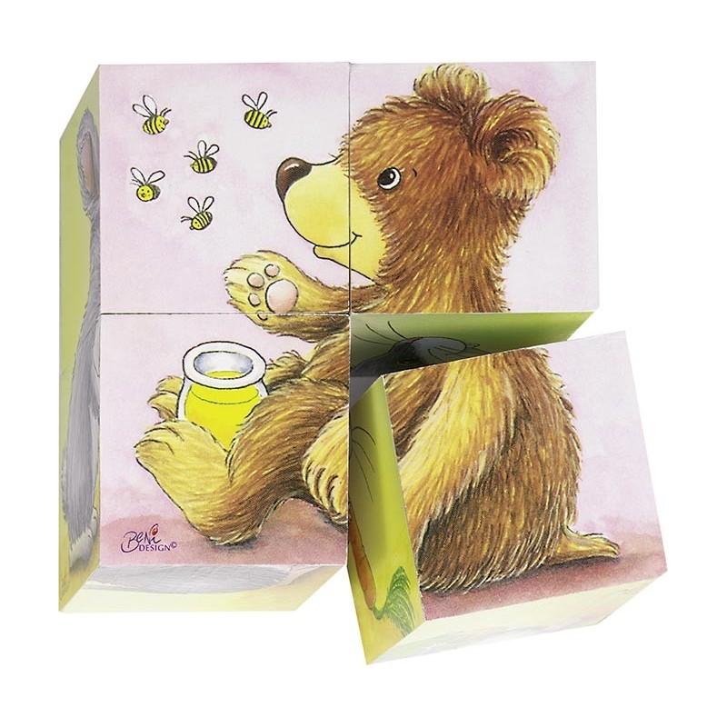 Puzzle de cubes bébés animaux à prix grossiste - puzzle cube à prix de gros