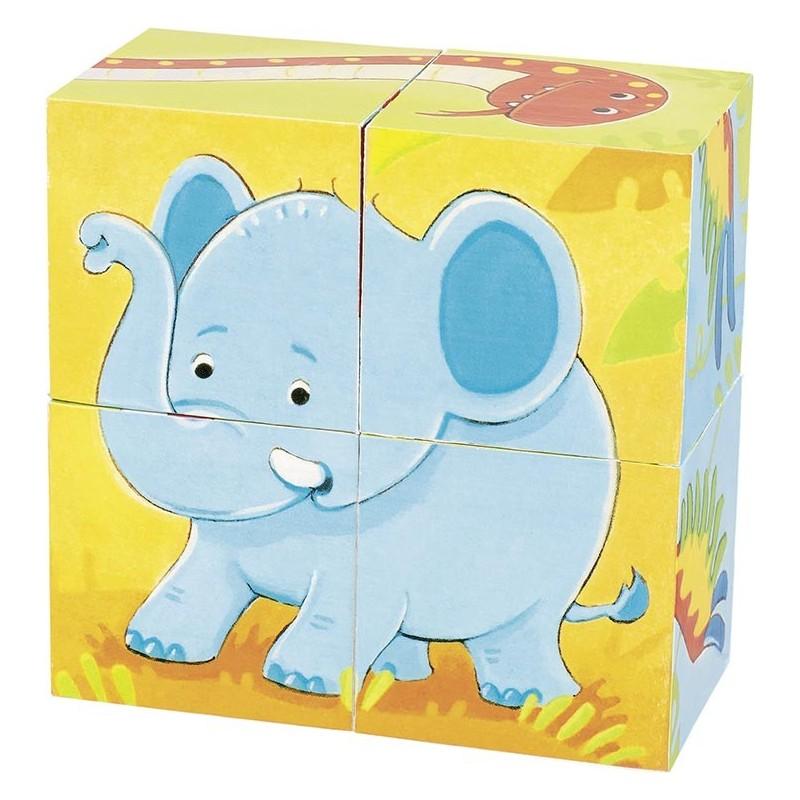 Puzzle de cubes, animaux sauvages - puzzle cube à prix de gros