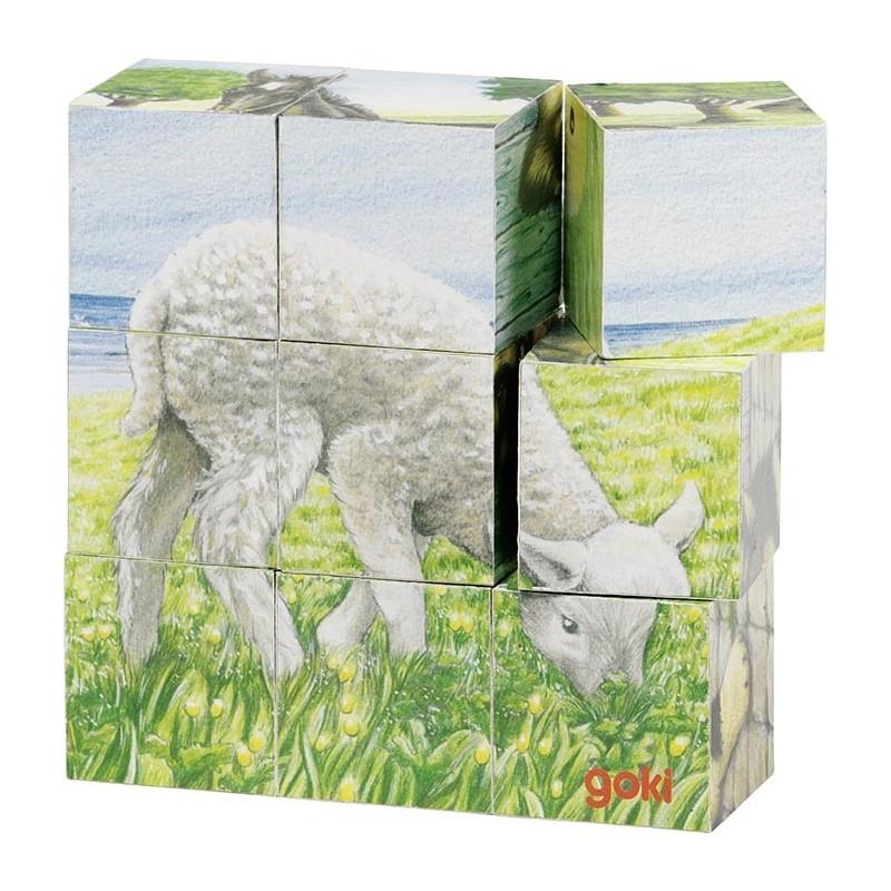 Puzzle de cubes, animaux de la ferme à prix grossiste - puzzle cube à prix de gros