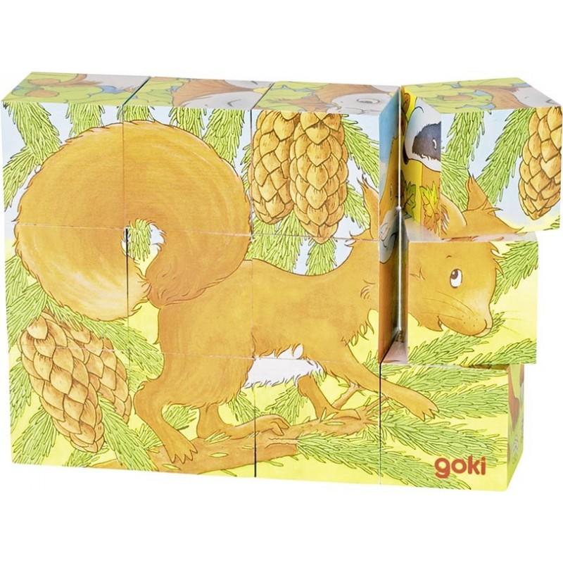 Puzzle de cubes, animaux de la forêt à prix de gros - puzzle cube à prix grossiste