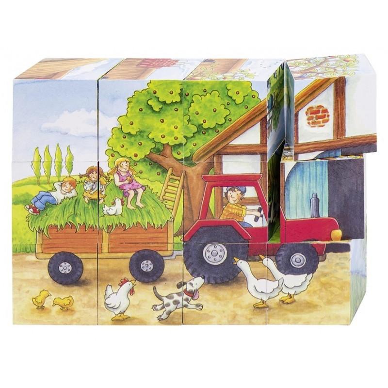 Puzzle de cubes, les saisons à la ferme - puzzle cube à prix de gros