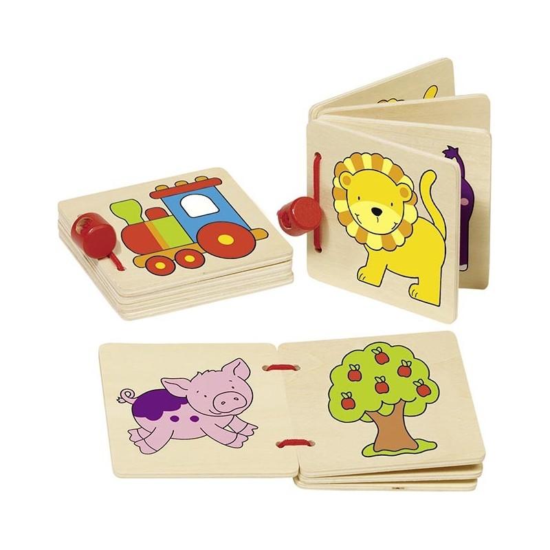 Livre d'images, locomotive, lion ..., goki basic. - livre pour enfants à prix grossiste