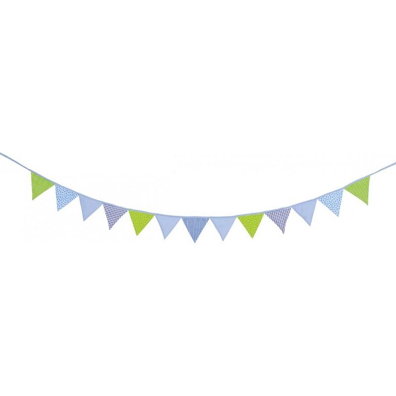 Guirlande de fanions bleue-verte à prix grossiste - guirlande de fanions à prix de gros