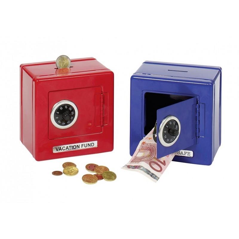 Coffre-fort à combinaison, bleu à prix grossiste - Coffre-fort à prix de gros