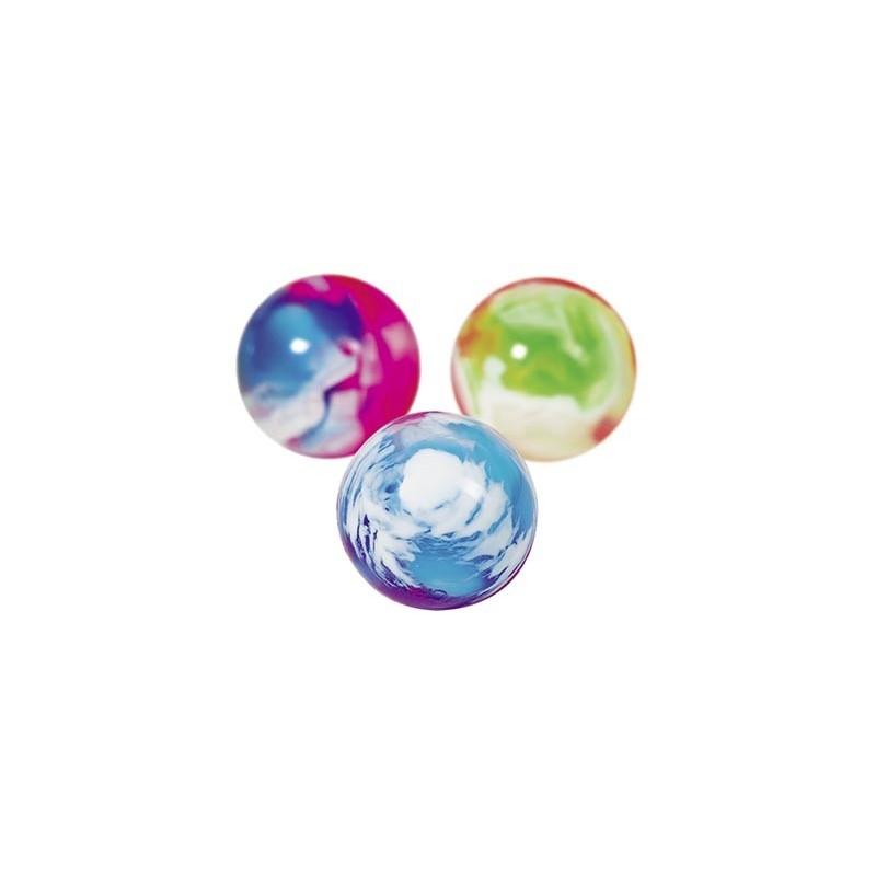 Balles rebondissantes marbrées, colorées - Balle rebondissante à prix grossiste