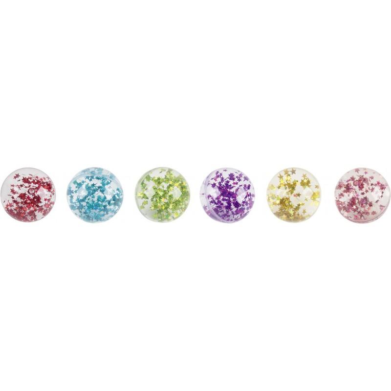 Balles rebondissantes remplies d'eau et d'étoiles - Balle rebondissante à prix de gros