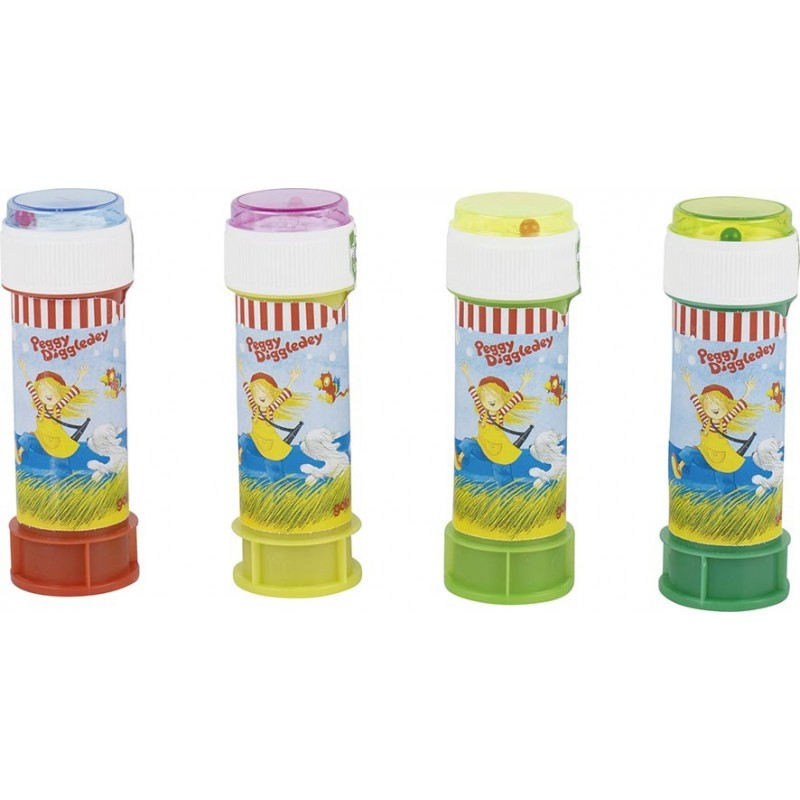 Bulles de savon, Peggy Diggledey, bouteille de 60 ml - Jeu de bulles de savon à prix de gros