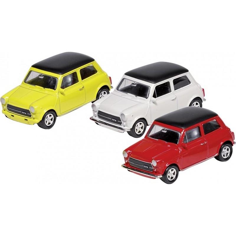 Mini Cooper 1300, en métal, 1:60, L 6,7 cm - Voiture miniature à prix grossiste