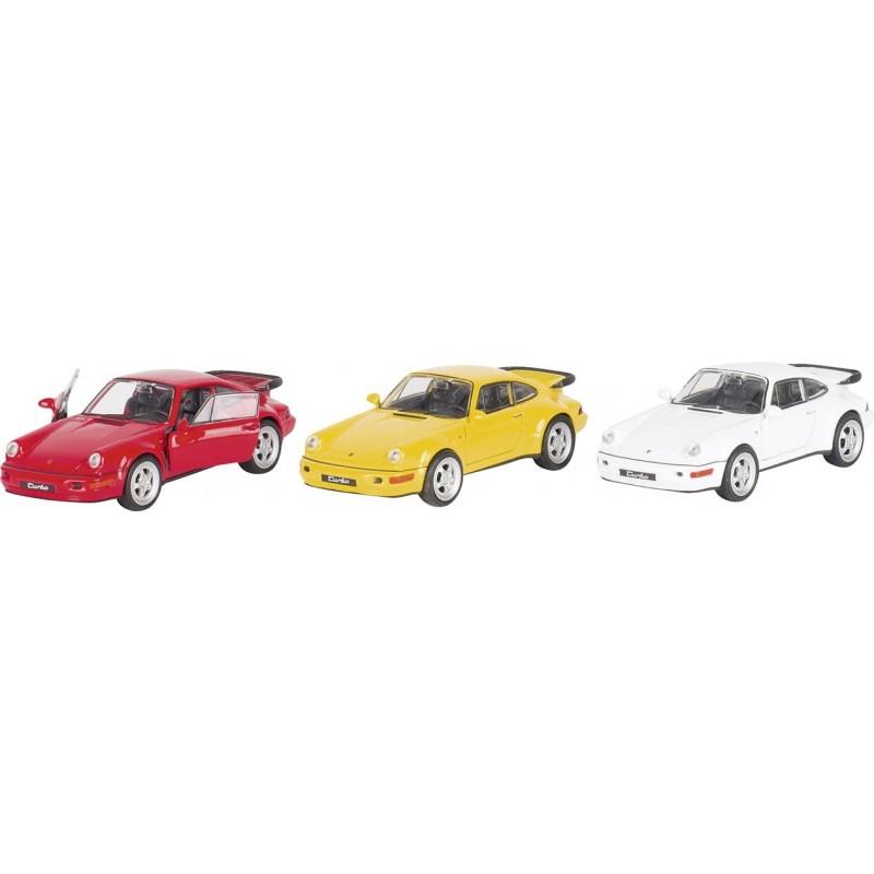 Porsche 964 Turbo, en métal, 1:37, L 11,5 cm à prix de gros - Voiture miniature à prix grossiste