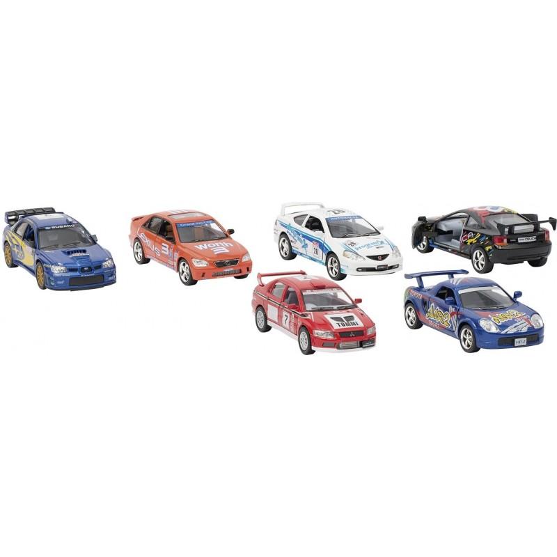 Street racers, en métal, 1:36, L 12,5 cm - Voiture miniature à prix de gros