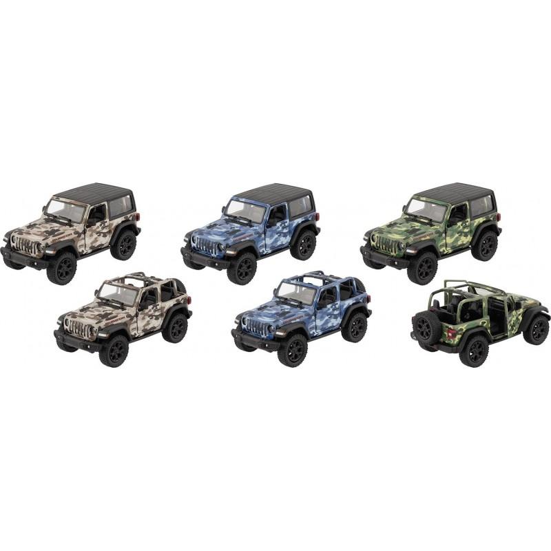Jeep Wrangler 2018, métal, 1:34, L 12,5 cm - Voiture miniature à prix grossiste