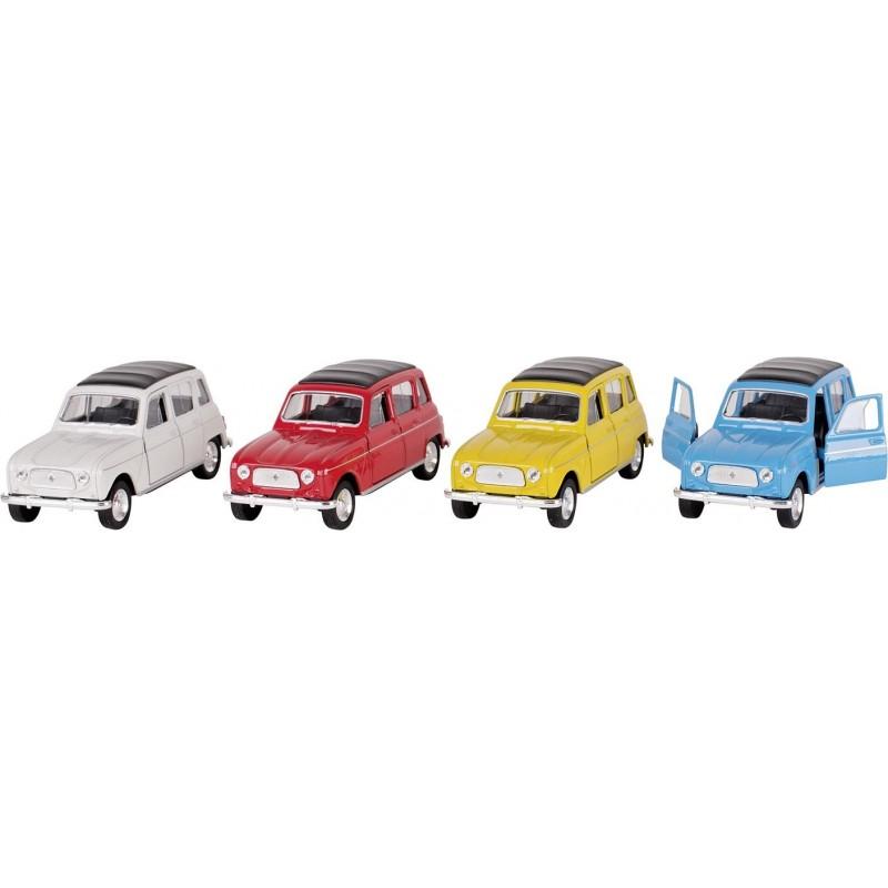 Renault 4, en métal, 1:34, L 11,5 cm à prix grossiste - Voiture miniature à prix de gros