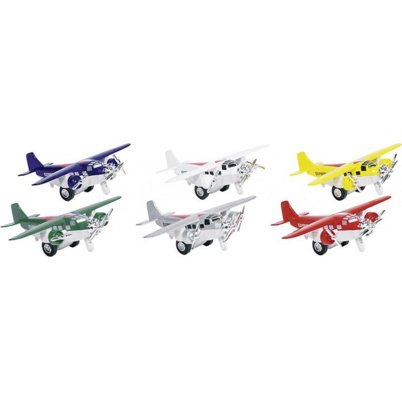 Avion, en métal, L 14 cm à prix de gros - Voiture miniature à prix grossiste