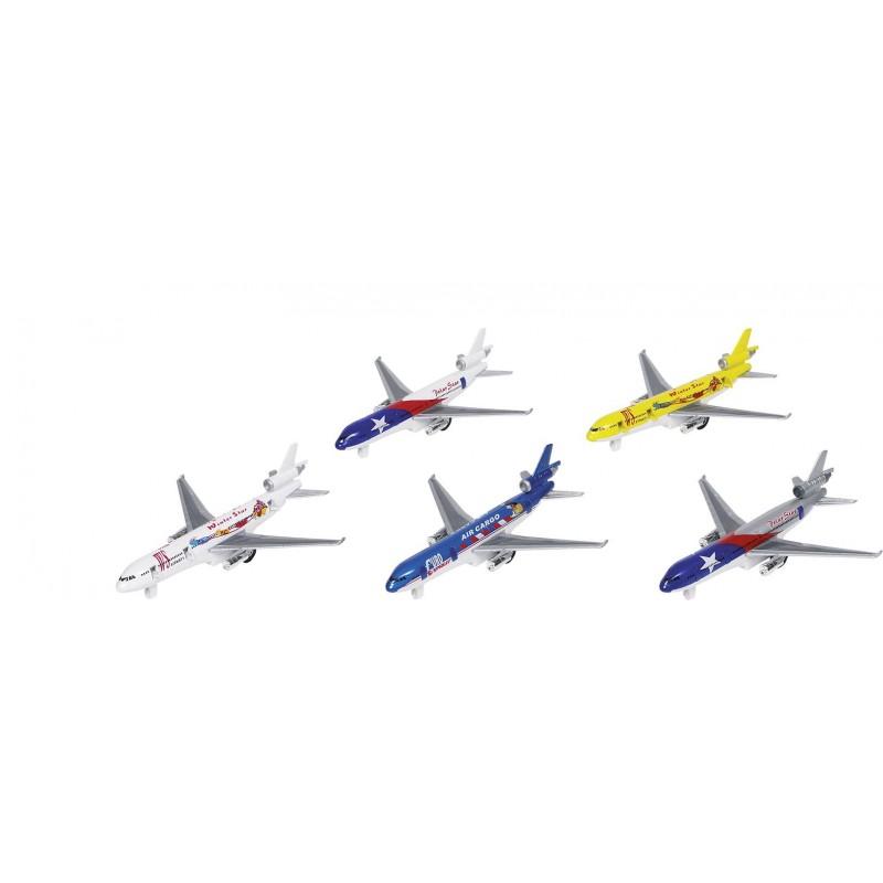 Avion, en métal, L 19 cm à prix grossiste - Voiture miniature à prix de gros