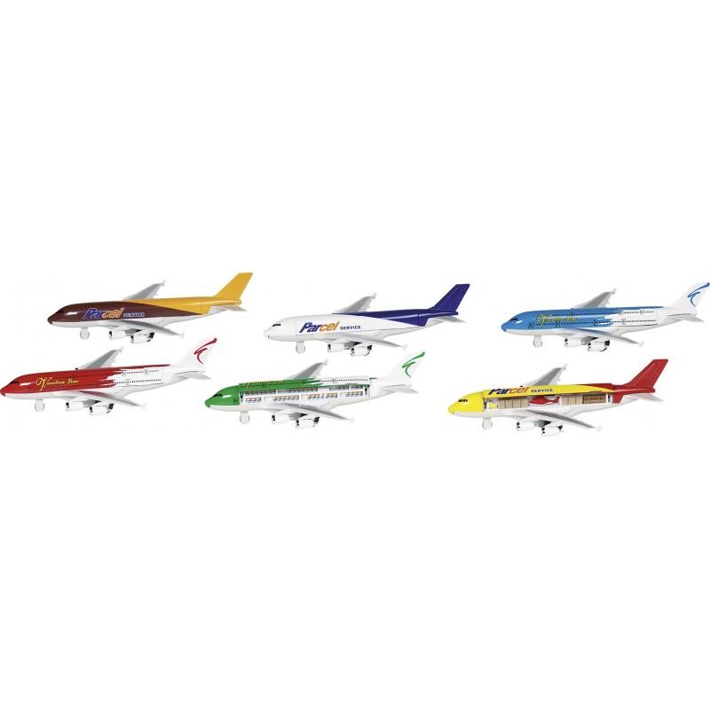Avion, en métal, L 19 cm à prix de gros - Voiture miniature à prix grossiste