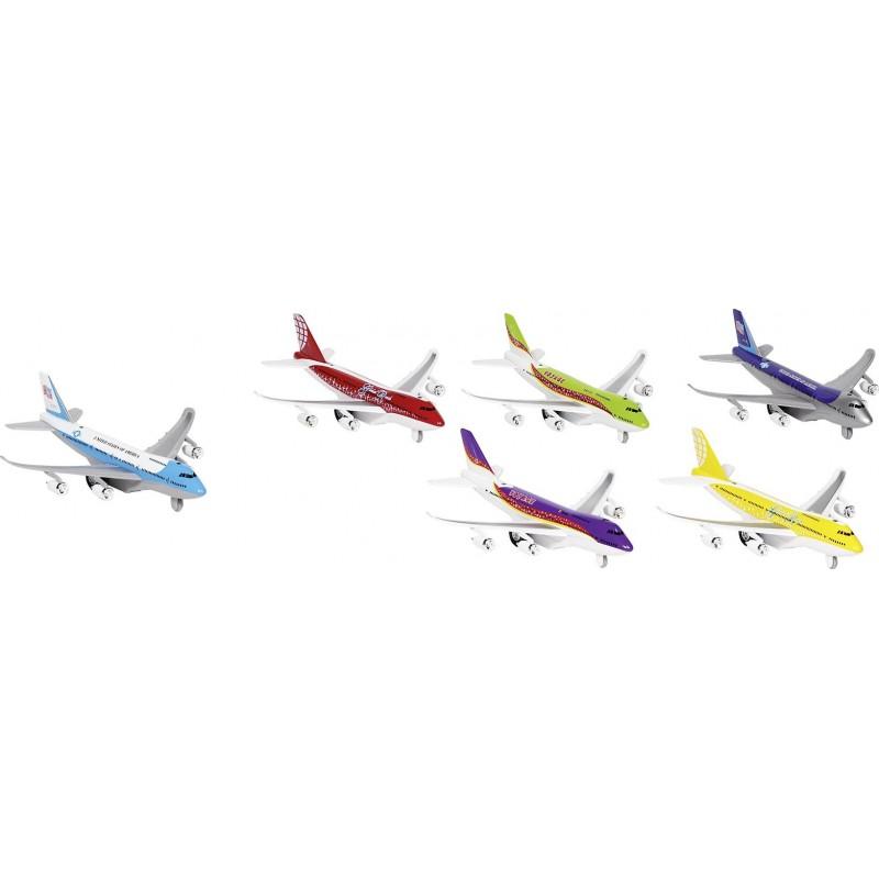 Avion avec lumières et son, en métal, L 18,5 cm - Voiture miniature à prix de gros