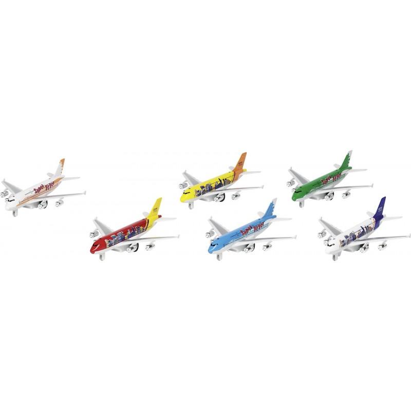 Avion avec lumières et son, en métal, L 19 cm - Voiture miniature à prix grossiste