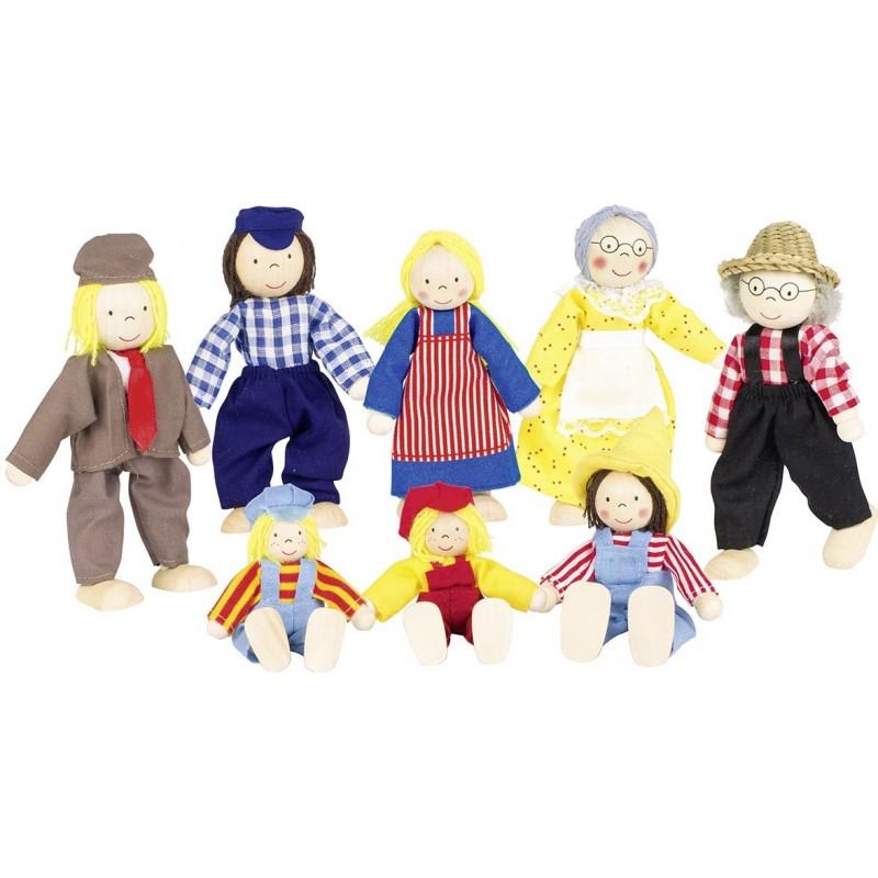 Famille de la ferme, poupées articulées II à prix de gros - poupée à prix grossiste