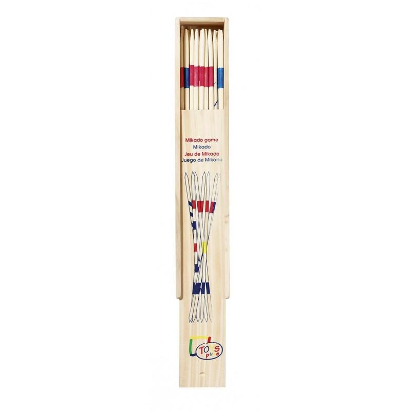 Jeu de mikado, géant, boîte en bois, à la pièce à prix grossiste - Mikado à prix de gros