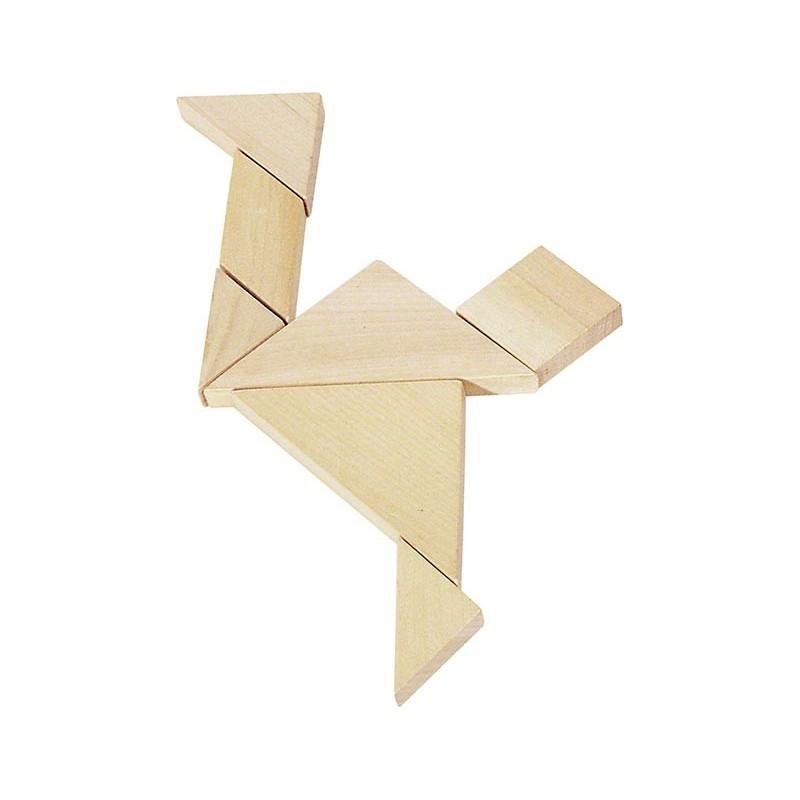 Jeu de Tangram, puzzle - Jeu en bois à prix grossiste