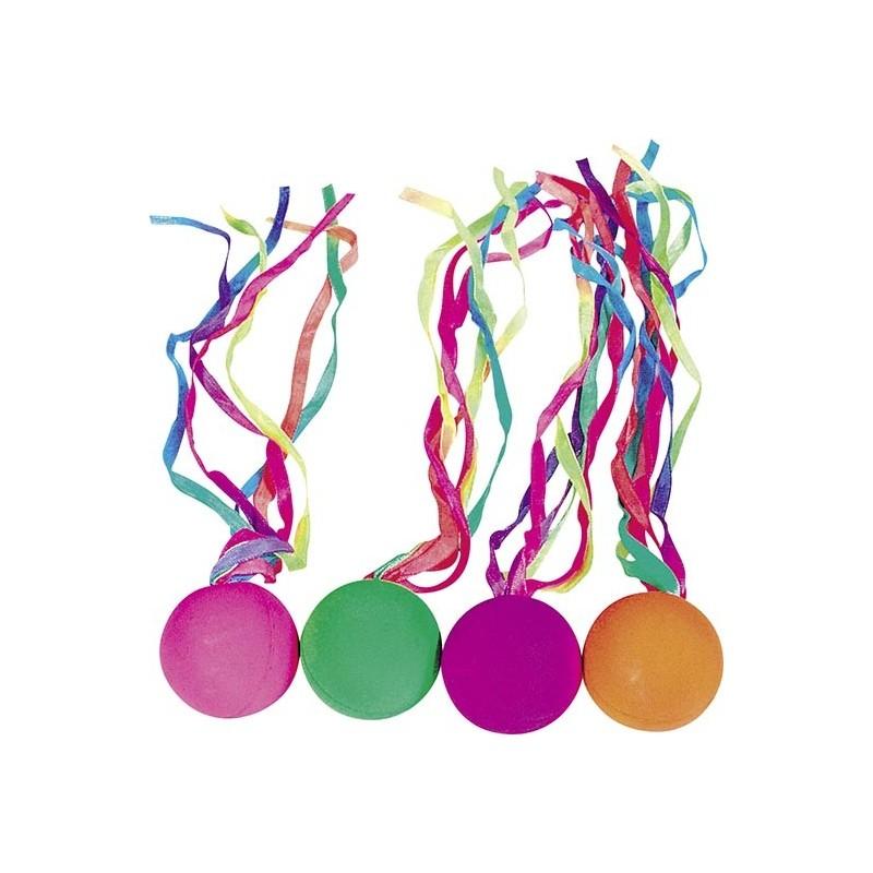 Balle rebondissante avec rubans colorés - Balle rebondissante à prix de gros