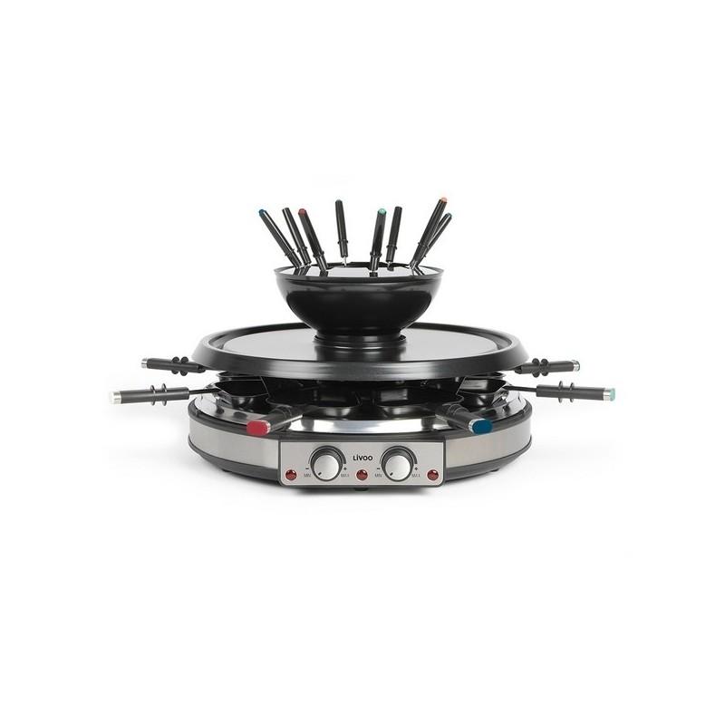 LIVOO - Appareil à raclette gril et fondue à prix grossiste - appareil à raclette à prix de gros