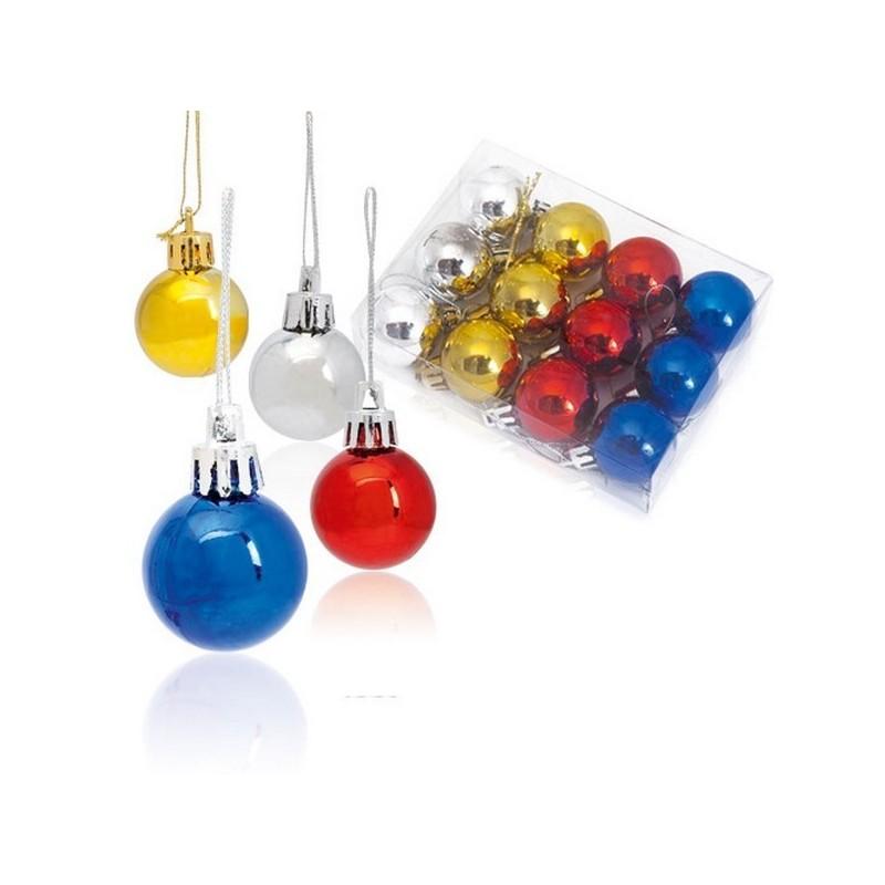 Set 12 boules de Noël à prix grossiste - Boule de Noël à prix de gros